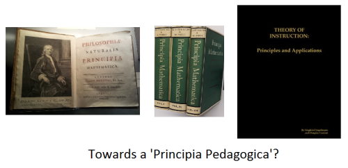 Towards a 'Principia Pedagogica'?